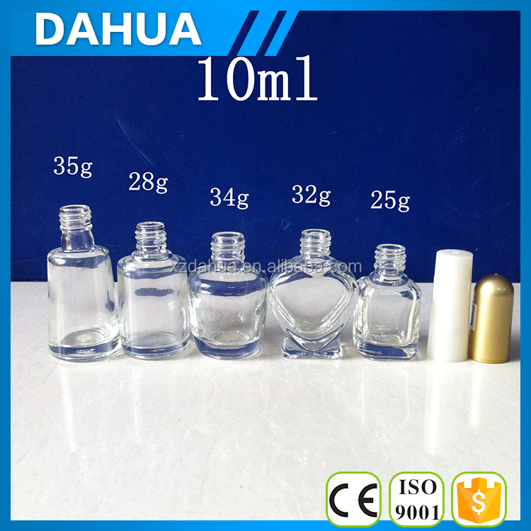 15ml 20ml 30ml round empty glass nail polish bottles with cap and brush wholesale