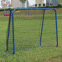Street steel ice hockey goal post with net