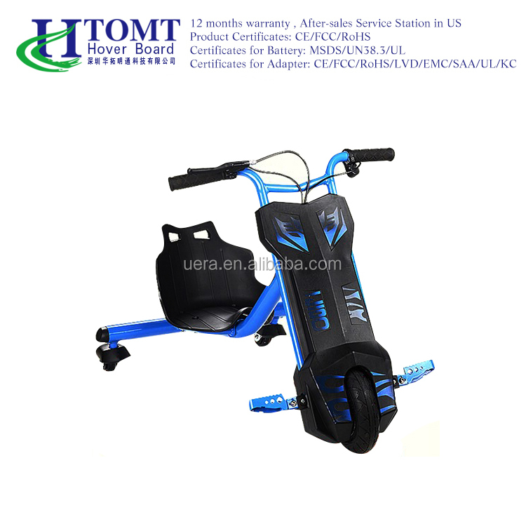 Shenzhen HTOMT hot sale electric drift trike with safety seats smart drifting scooter for kids 3 wheel electric scooter