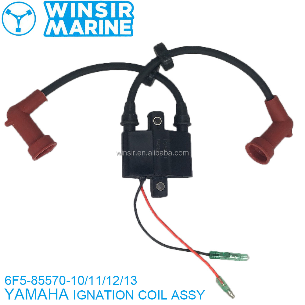 6F6-85530-01 YMH 2 stroke 40HP E40J MARINE BOAT ENGINE OUTBOARD <strong>MOTOR</strong> PARTS <strong>IGNITION</strong> COIL