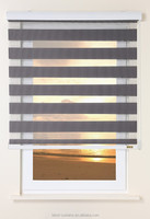 Good quality double layer zebra blinds and curtains / rainbow blind shade / sheer blind made in China