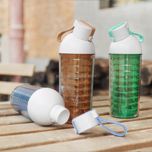 Eco -Friendly Plastic Insulated Water Bottle for school creative design double wall bottle