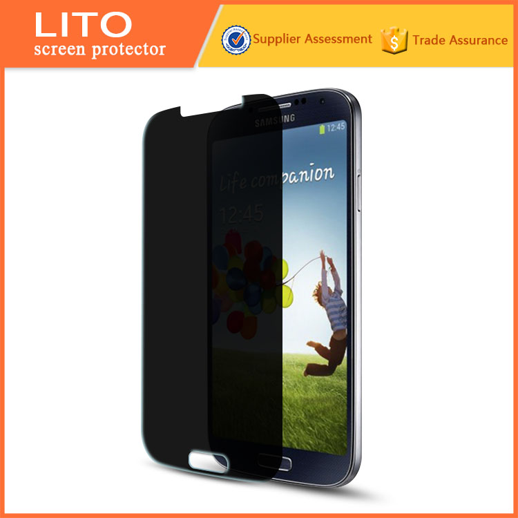 LITO new products 0.3mm anti-spy tempered glass screen saver for samsung galaxy s4