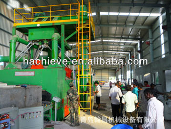 Steel plate shot blasting and painting line