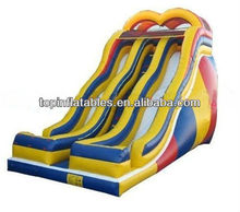 hot sale TOP inflatable dual lane water slide from Guangzhou manufacturer