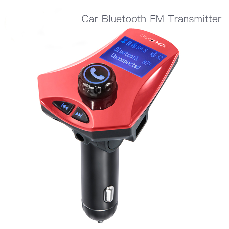 CE FCC Rosh wireless bluetooth fm transmitter 2 usb chargers for car kit