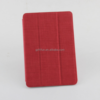Red color factory cheap price pu leather case for ipad mini