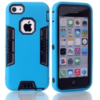 2 in 1 shockproof armor rugged hard plastic silicone mobile phone accessories case cover for iphone 5s e