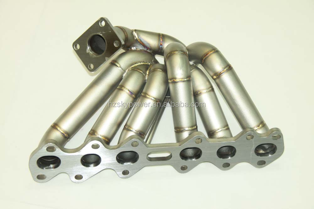 Upgrade 3mm scheduel 40 T4 Flange Turbo Manifold for 1993-1998 Toyota Supra MK4 2JZGTE 2JZ (Fits: Toyota Supra)