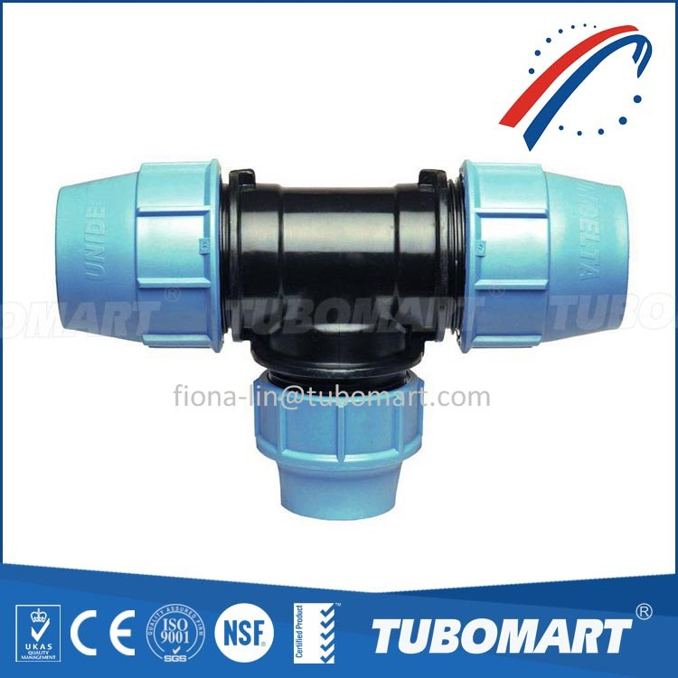 pp reducing tee of pp compression fitting type with cheap price