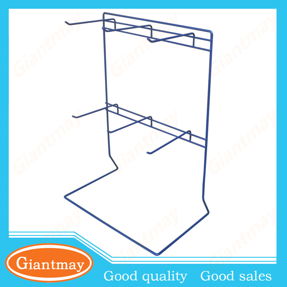 6 wire pegs counter stand keychain display rack