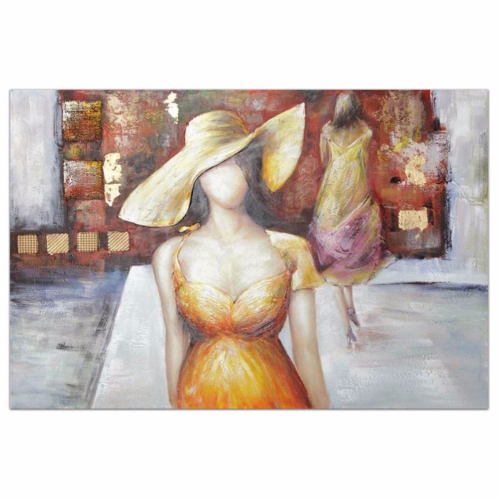 beautiful elegant woman of hotel wall oil painting art picture