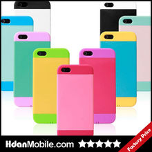 Candy Color Hard Gel Silicone Phone Shell Case for iphone 5 5s Mobile Phone Bags & Cases