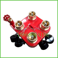 bs5041-3/BS5041 part3fire hydrant valve wet and dry riser equipment 4 Way Breeching Inlet vlave