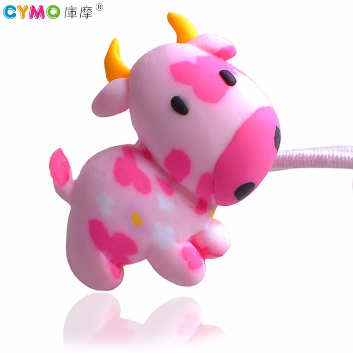 2017 New Arrival Hair Bands Handmade Clay Hair Accessory Elastic Cow Hair Tie for Cute Baby Girls