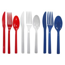 HOT SELLING Children Folding Colorful reusable Plastic travel tableware cutlery Set with case