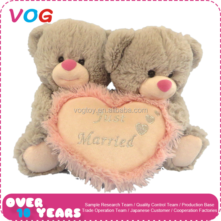 Custom cheap handmade bear stuffed toys valentine plush gift animal toy for lover