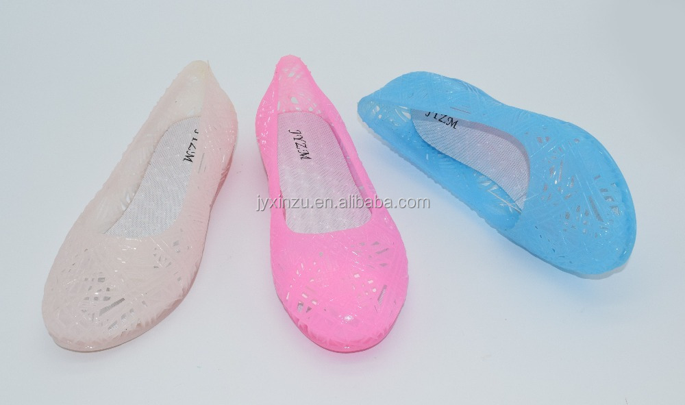 Casual PVC Flats Sandal Shoes Woman Sandal Made in China