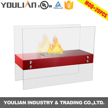 2017 trendy products ventless freestanding bio ethanol glass fireplace (FP-006S)