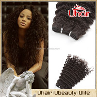 100% human hair extension 24 inch unprocessed virgin human hair deep wave virgin mongolian hair