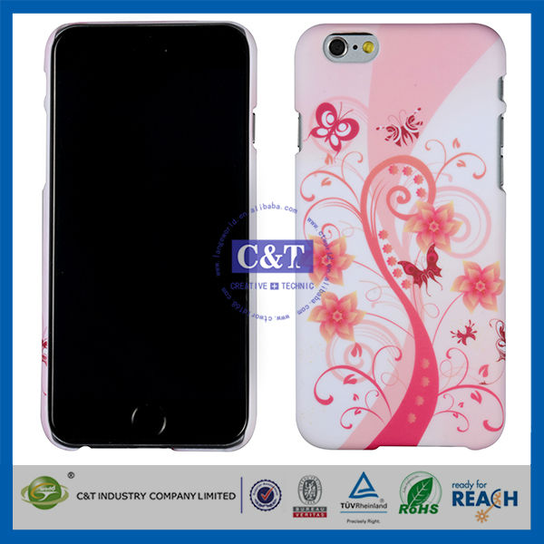 C&T white background ultra thin case for iphone 6
