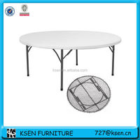 Round folding dining table KC-T76