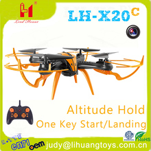 LH-X20C China manufacturers uav drone 2.4g 4-axis ufo aircraft quadcopter kit with camera altitude holding rc quadcopter