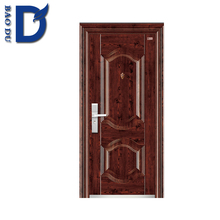 2016 best sale oval glass door inserts steel front entry doors for sale for south america market