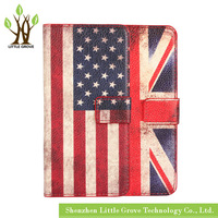High quality For Samsung Galaxy S6 G9200 National Flag Leather Wallet Card Holder Cover Case Free Shipping