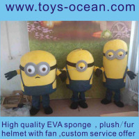adult despicable me minion fur minion mascot costume