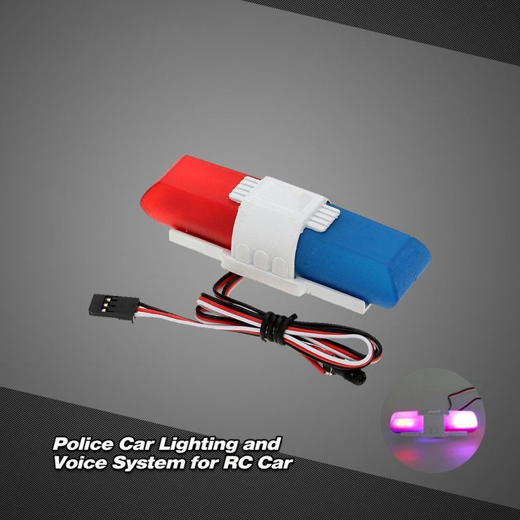 911013-Police Car Lighting and Voice System with 8 Kinds of Flashing Mode for RC Car