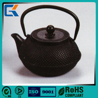 Black round large capacity health metal teapot with strainer