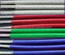 pvc or nylon coated stainless steel wire rope