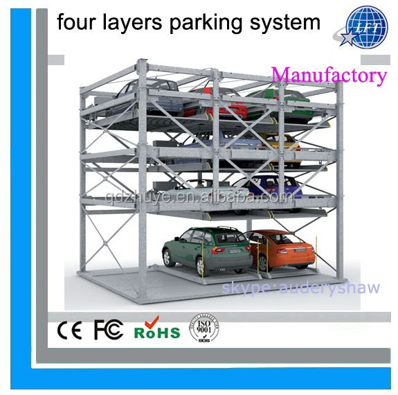 Multi levels automatic moving car parking garage