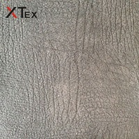 100% polyester wood grain printed embossed warp suede fabric for home textiles upholstery from china