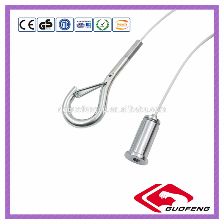 High Strength Coated PVC Hanging Ceilling Steel stainless Wire Rope Sling Ferrule With Soft Eye Loops