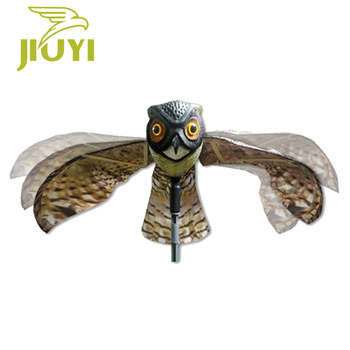 Garden plastic owl decoy for farm fields, orchards hawk kite