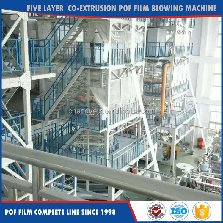 Hot Sale Five Layer Co-Extrusion POF/Polyolefin Heat Shrink Film Making Extruder Machine