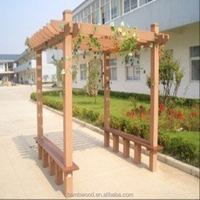 Waterproof Outdoor Wpc Comstruction Wpc Pergola With New Style