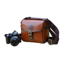 vintage pu leather universal waterproof slr camera case