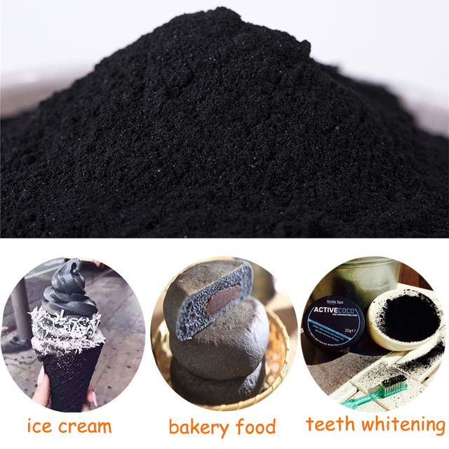 Human Consume Food Grade Activated Charcoal Powder For Ice Cream, Bread, Cosmetic,Teeth Whitening