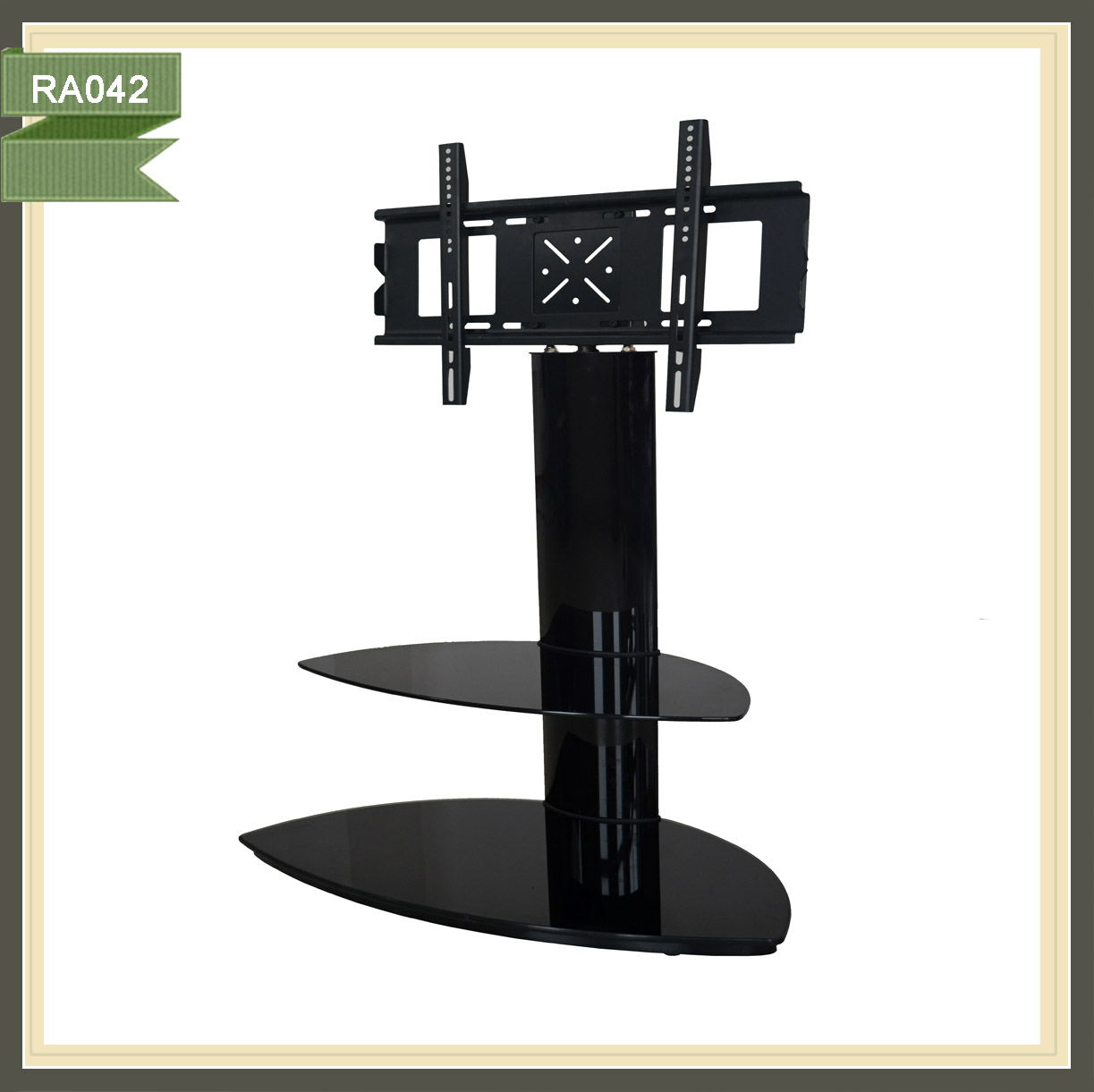 Modern simple contemporary upright advertising stylish 360 degree rotating tv stands