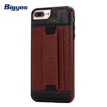 Cell phone accessories credit card wallet holder leather case for iPhone 8 8plus