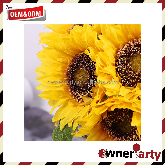 Hot Sale Artificial Flowers High Quality Home Decoration Wholesale Silk Sunflowers