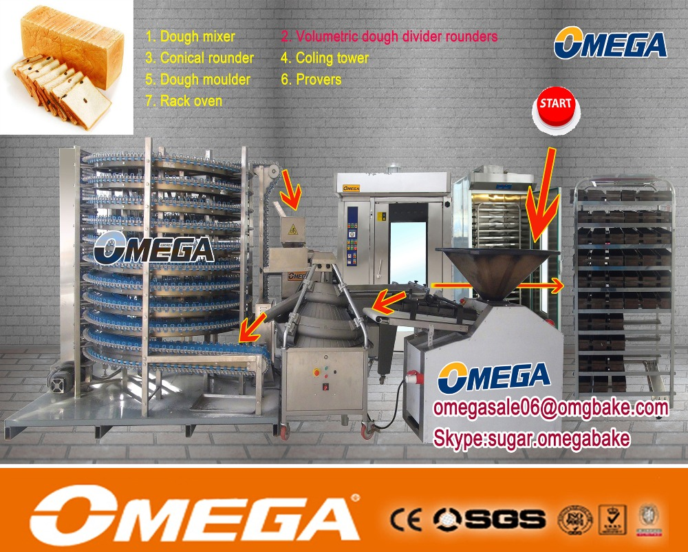OMEGA bread,cake, pastry and bakery plant/pizza production line(Manufacturer CE &ISO9001)