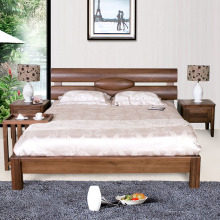 Fashion design modern wood double bed frame