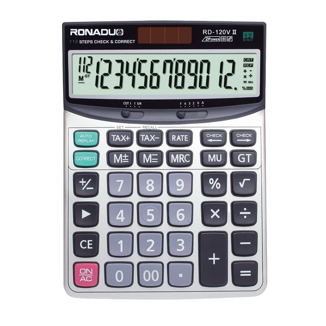 wholesale price graphing calculator RD-120VII 12-digit calculator!big size desktop calculator