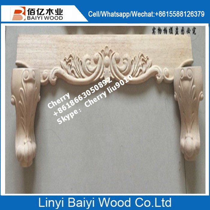 unpainted wood furniture table legs european carved feet accessories