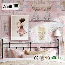 China factory new design good quality wallpaper world map