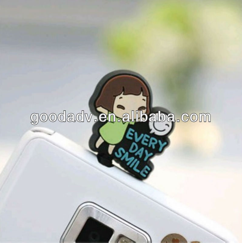 2012 New arrival Cartoon anti silicone dust plug for lphone